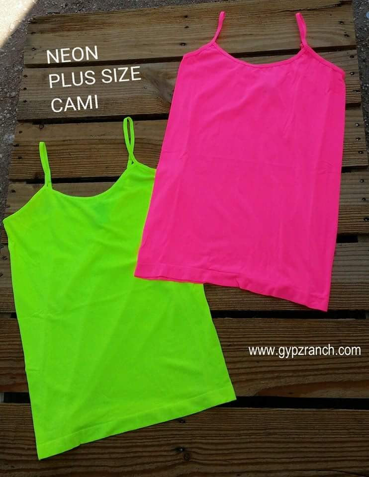 Solid Neon Cami - Plus Size