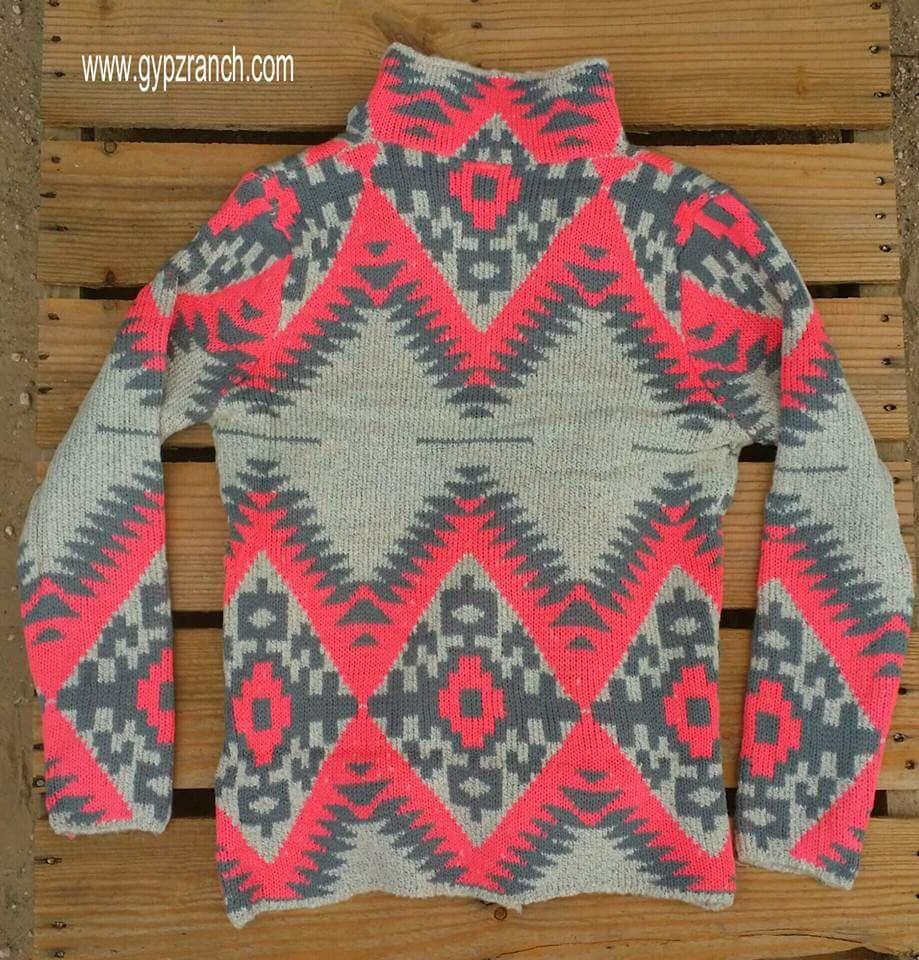 True Grit Neon Tribal Cardigan