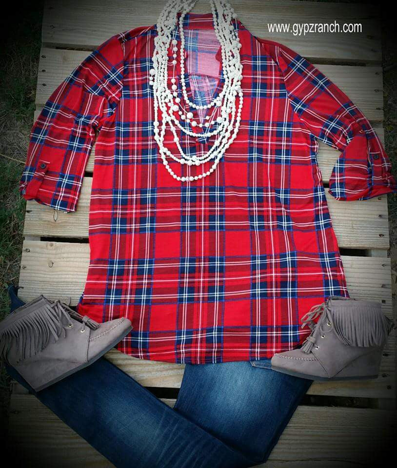 Coal Miners Daughter Plaid Top - Also in Plus Size