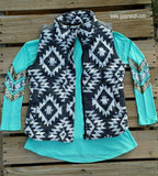 Shooting Star Chevron Sequin Arm Tunic Top - 2 color options
