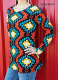 Secret  Pal Tribal Tunic Top