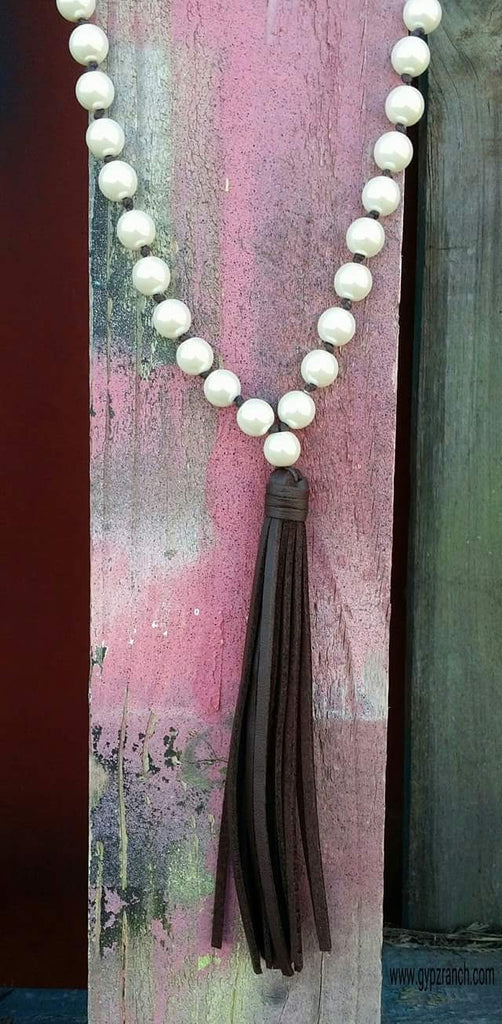 Pearls & Fringe Long Necklace