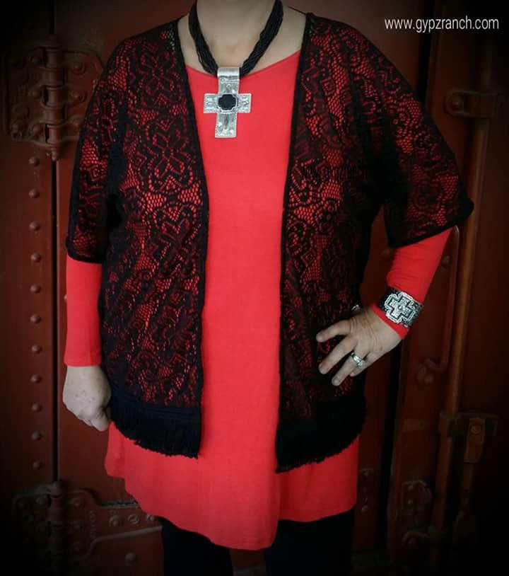 Walking In Memphis Black Lace Cardigan - Plus Size