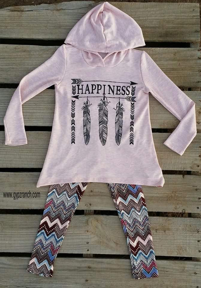 Kids - Happiness Arrow Hoodie Top