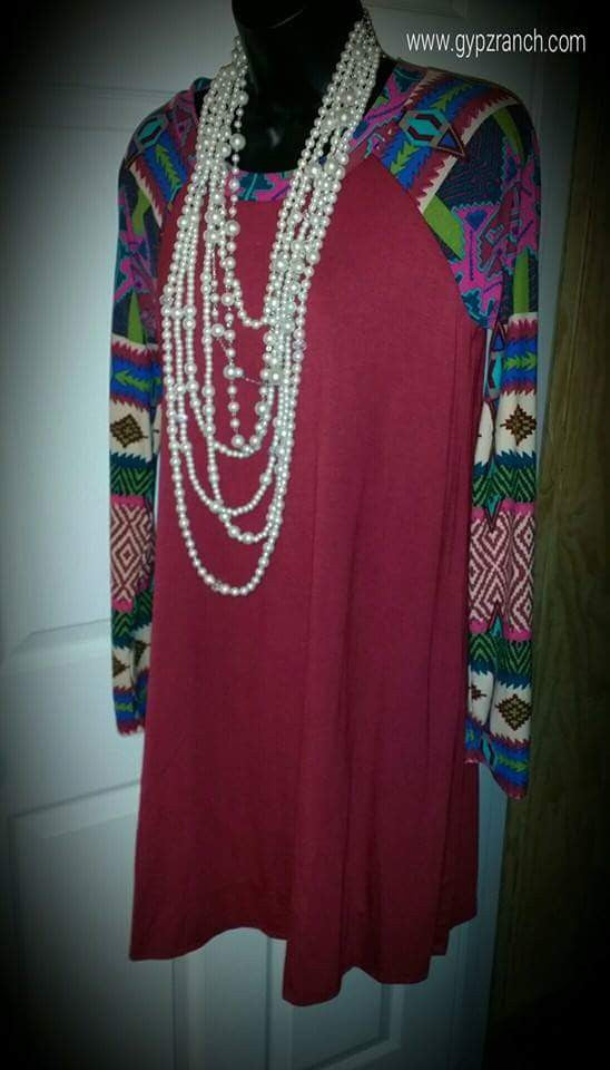 Moving on up Tribal Tunic Dress