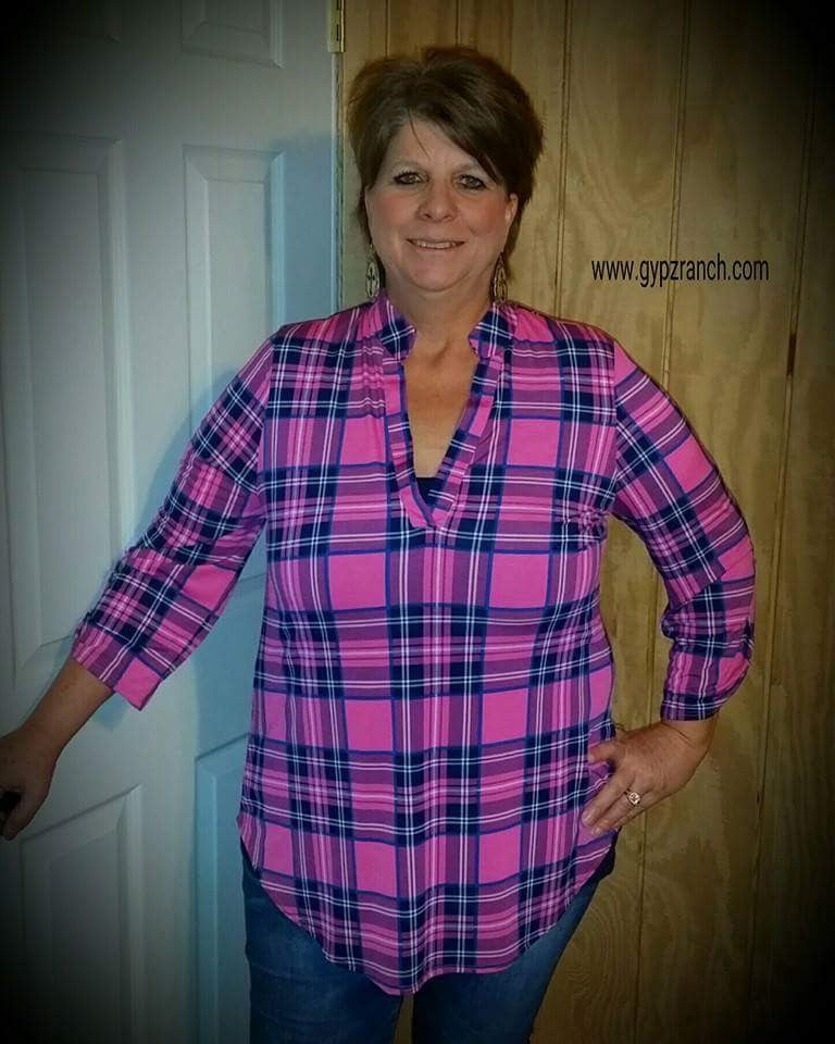 Infamous Style Pink Plaid Top - Also in Plus Size