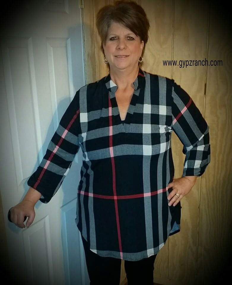 Purest Plaid Black Top - Also in Plus Size