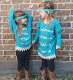 Kids - Hannah Turquoise Tunic Top