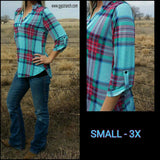 Little Miss Perfect Plaid Top - Also in Plus Size