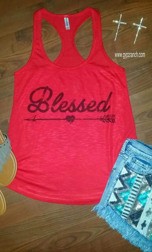 Blessed Red Tank Top