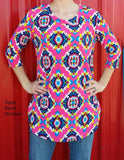 Jolie Hot Pink Tunic Top