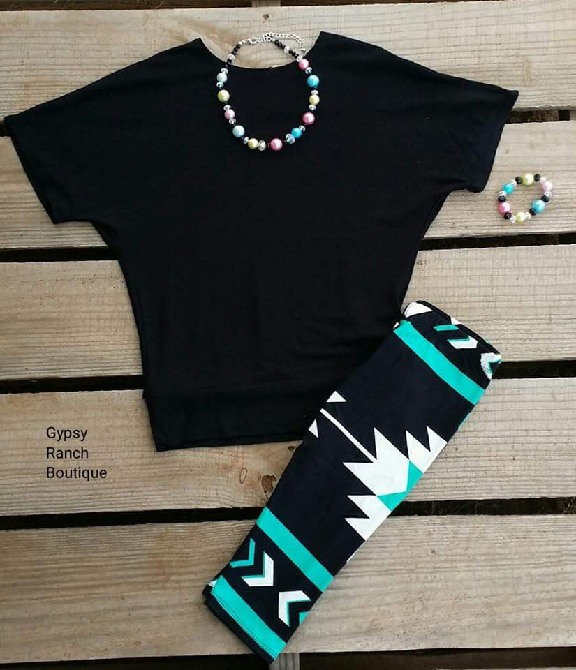 Kids - Texas Angel Tribal CAPRI Leggings
