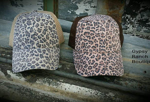 Leopard Glam Cap - 2 colors
