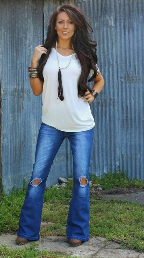 Emily Jane Distressed Jeans - Also in Plus Size