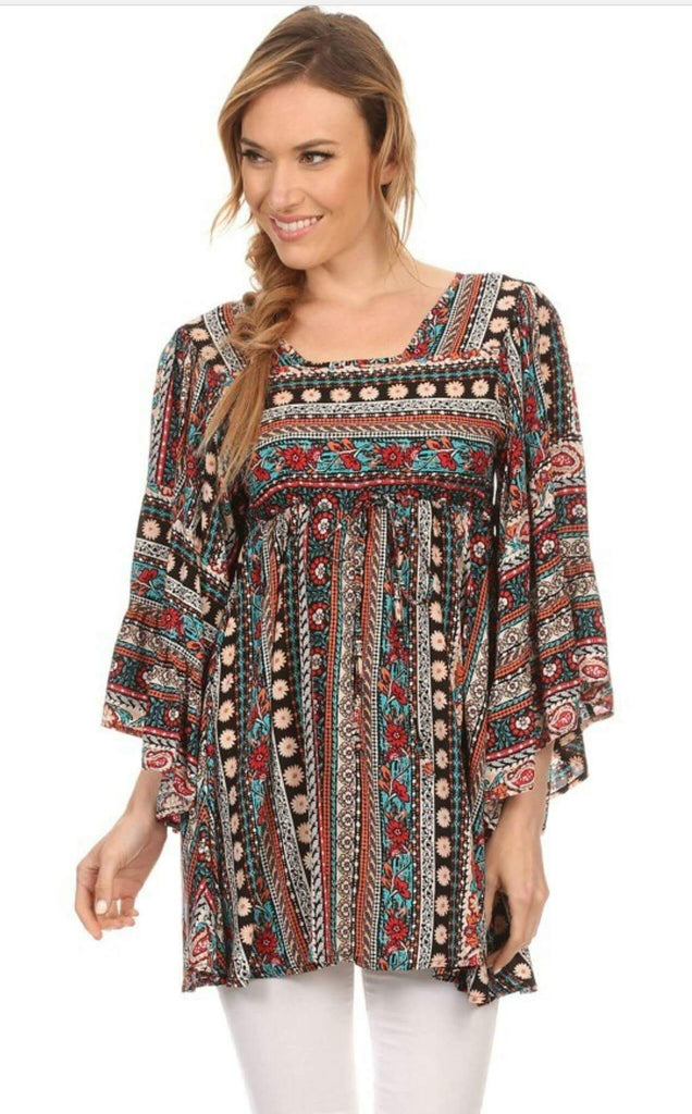 Raegan Multi Tunic Top - Also in Plus Size