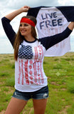 Live Free Baseball Raglan Tops - Also in Plus Size