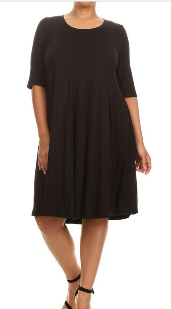 Worthy of your Praise Black Dress  - Plus Size