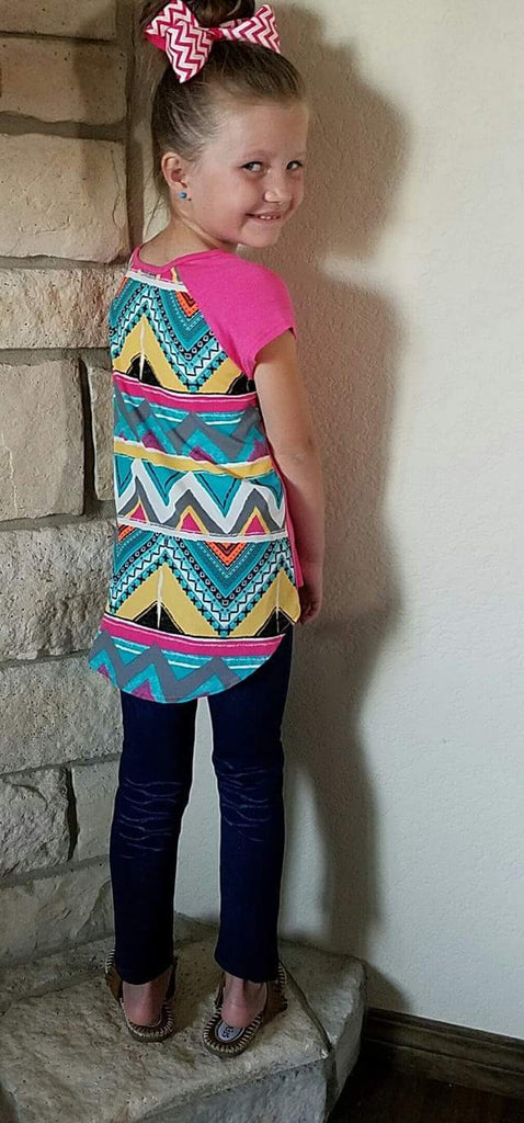 Kids - Shay Chevron Pocket Top