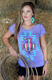 Long Shot Serape Buckin Horse Top-also in Plus Size