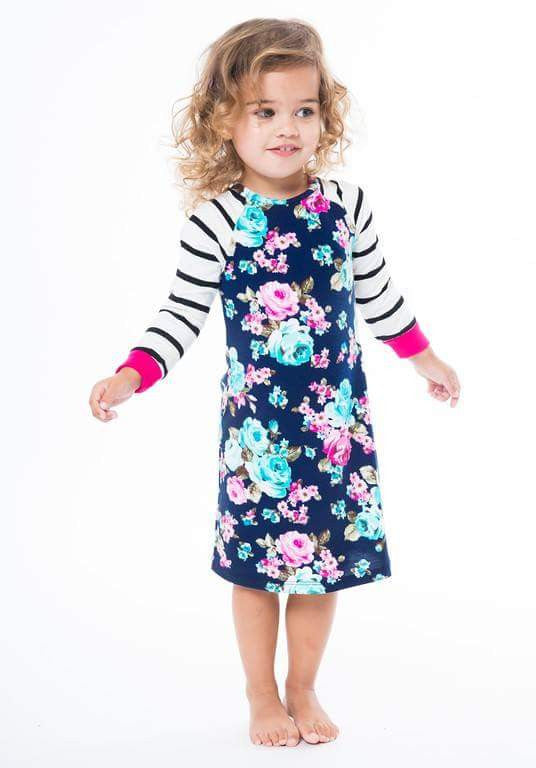 Kids - Saidee Floral & Stripe Dress