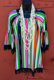 Smooth Operator Serape Fringe Tunic-Also in Plus Size