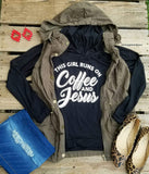 Coffee & Jesus Black Hoodie Top-Also in Plus Size