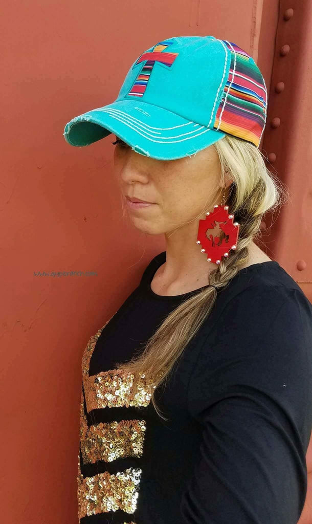 Serape Cross Cap - 2 color options