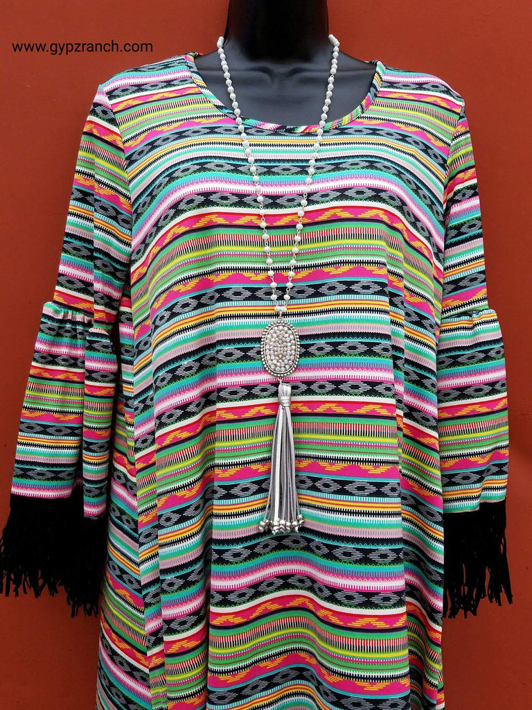Grace is Won Tribal Tunic Top - Also in Plus Size