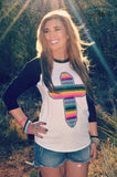 Forever Faithful Serape Cross Top - Also in Plus Size