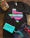 Texas Neon Serape Top - Also in Plus Size