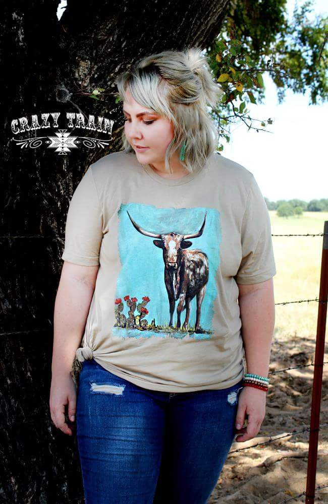 Stockyards Longhorn Top - Also in Plus Size