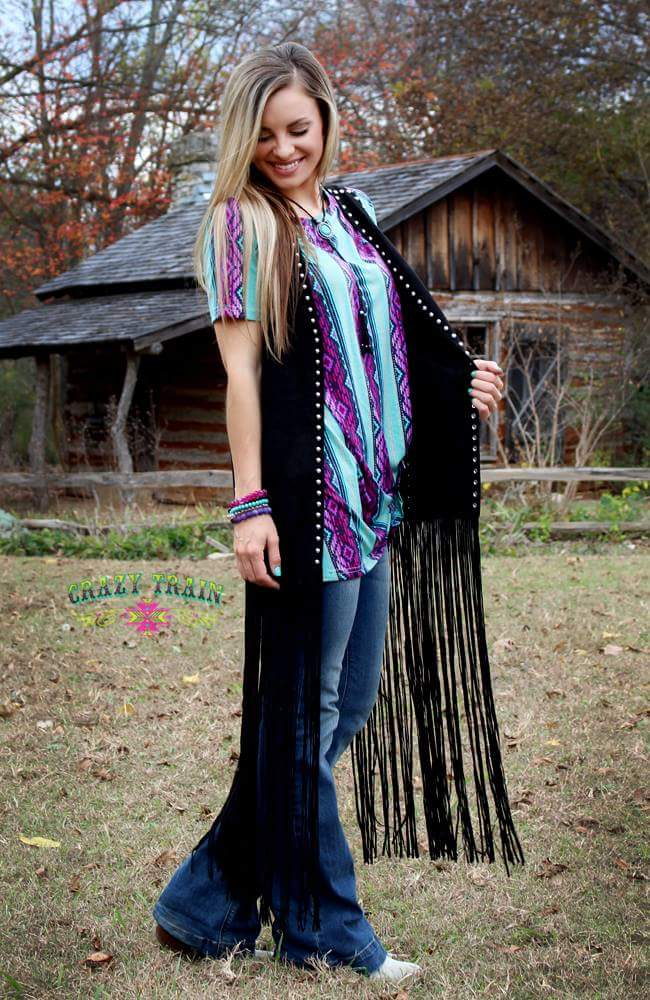 Your Knot Dreaming Serape Top - Also in Plus Size