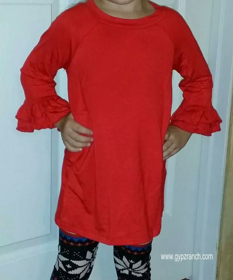 Kids - She's A Dynasty Red Tunic Top
