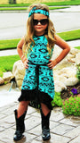 Kids - Karsyn Tribal Fringe Dress