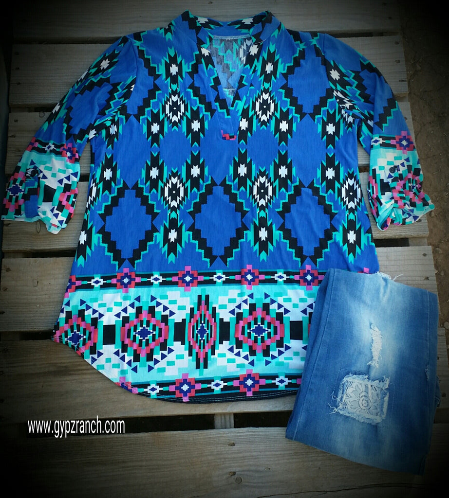Anything Goes Tribal Top - Also in Plus Size