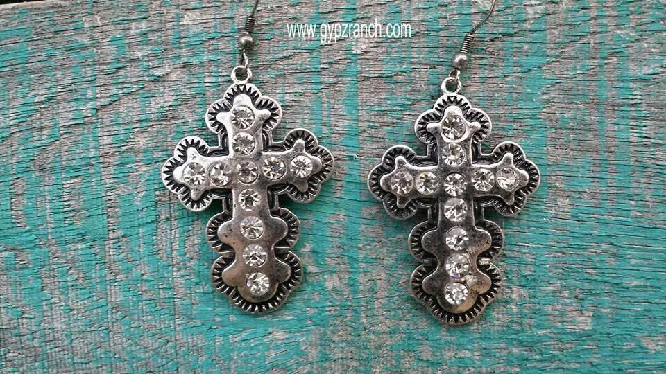 Dakota Skye Cross Earrings