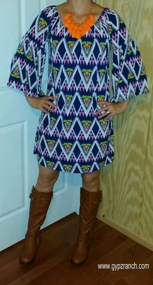 Sugar Chic Tribal Tunic Dress