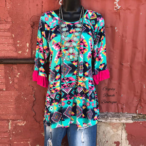 Temple Tribal Tunic Top  - Also in Plus Size