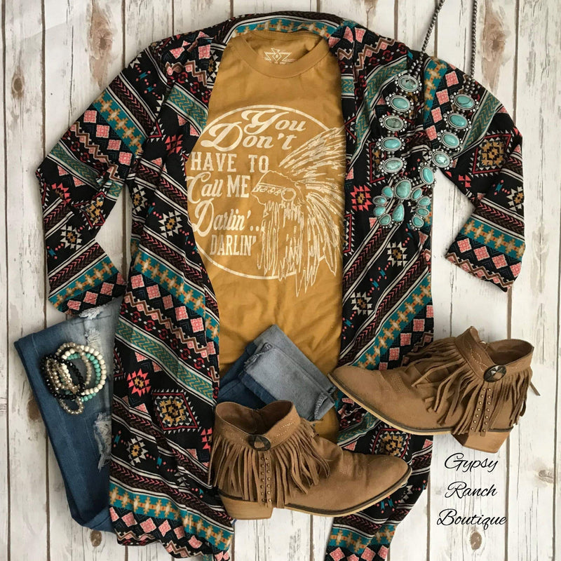 Abilene Tribal 3/4 Sleeve Cardigan