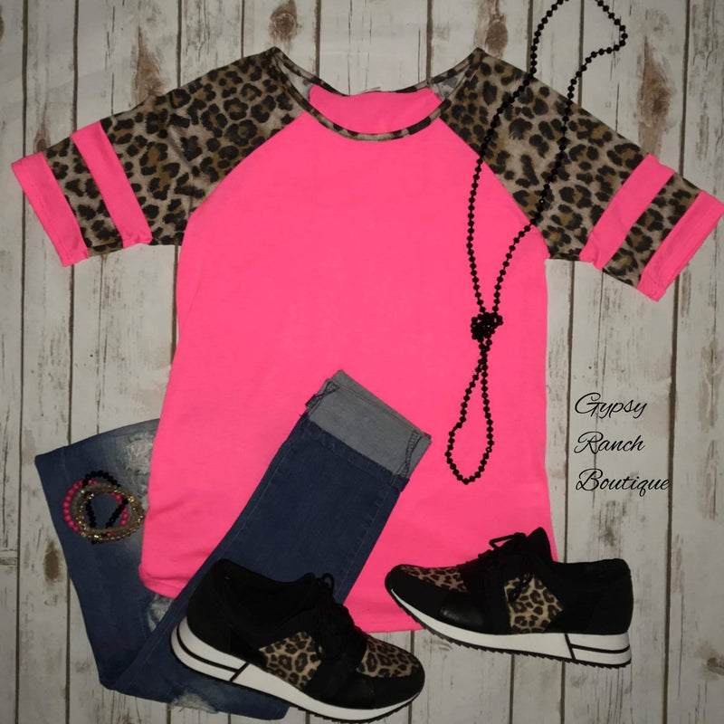 Billingsly Pink Leopard Top - Also in Plus Size