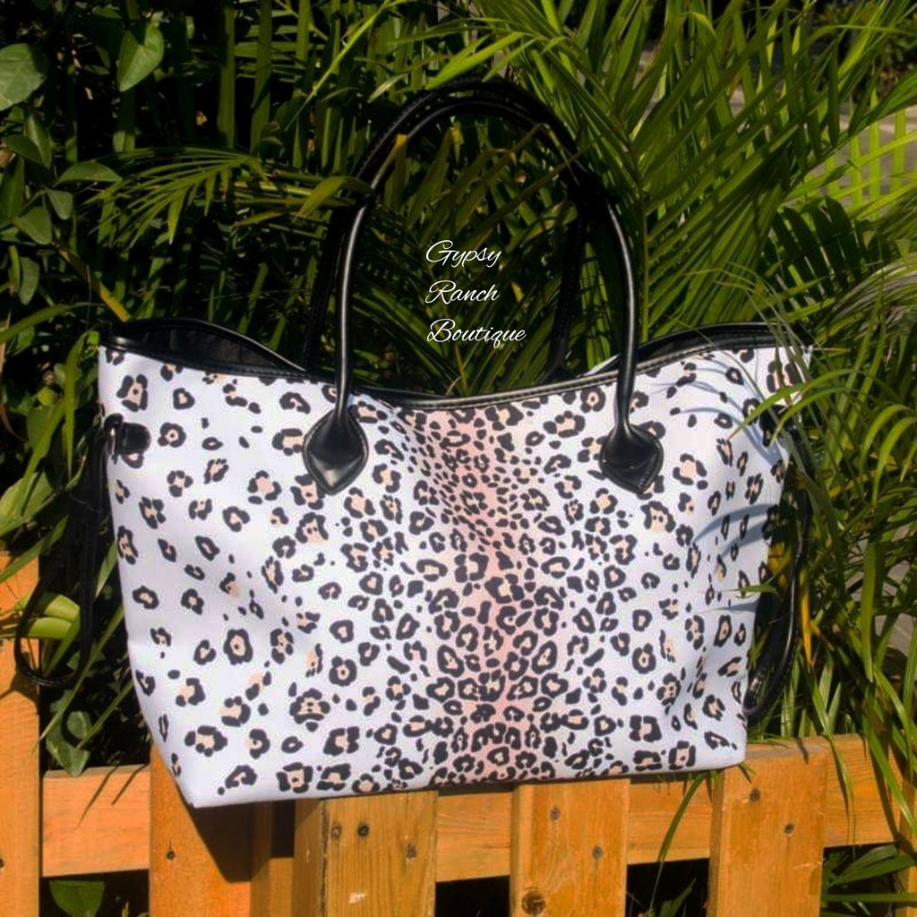 Taos Snow Leopard Tote Purse Bag
