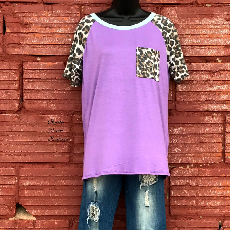 Hampton Purple Leopard Mint Top