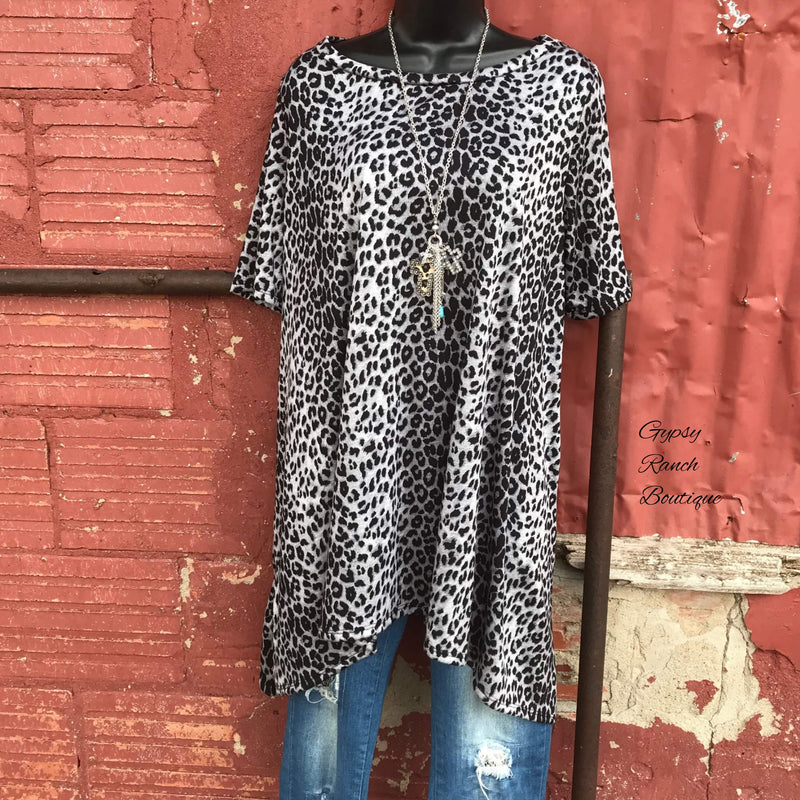 Limited Leopard Grey Tunic Dress - Also in Plus Size