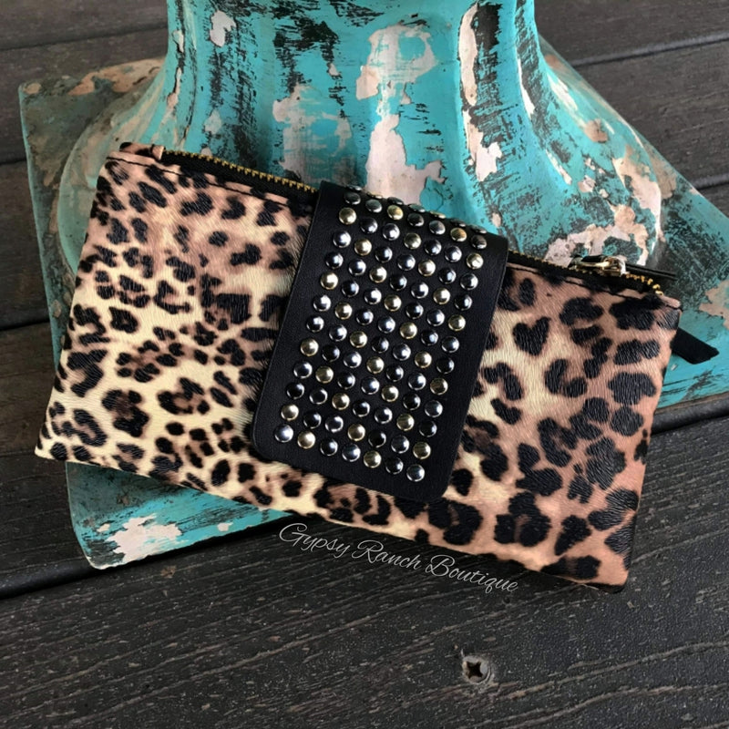 Highland Haven Leopard Wallet Clutch