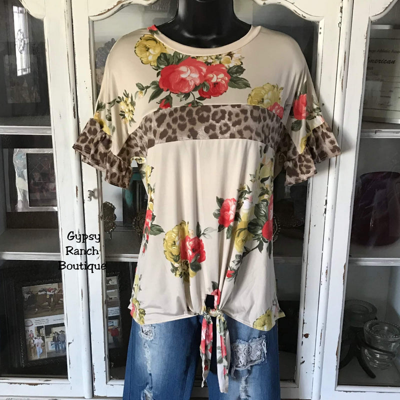 Seminole Floral Leopard Top