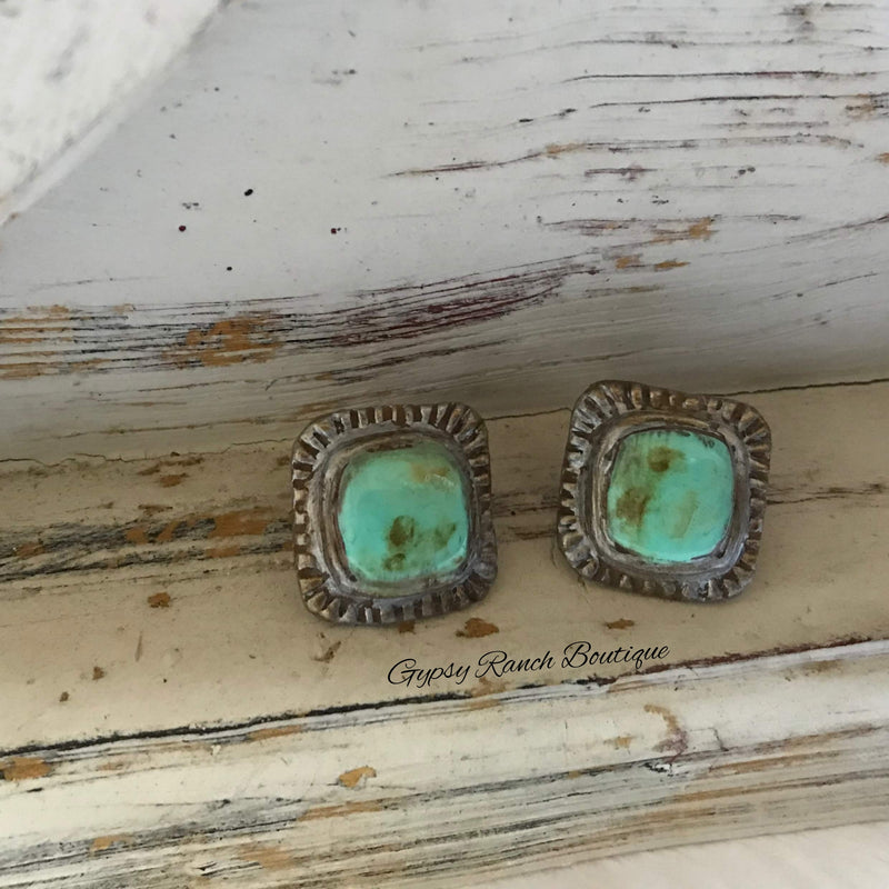 Riverdale Turquoise Post Back Earrings