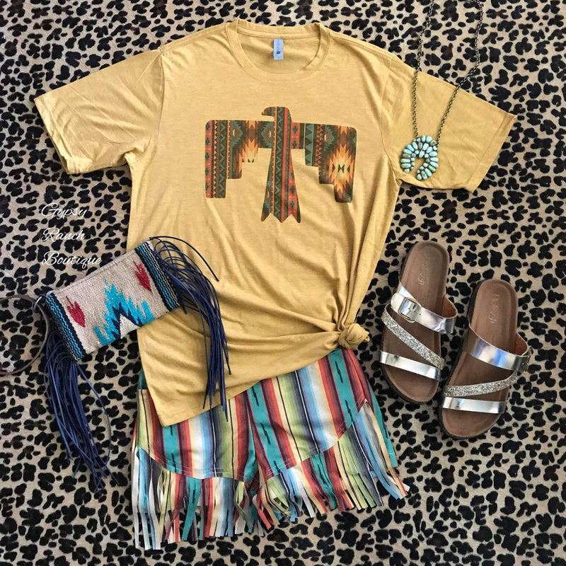 Dakota Serape Fringe Shorts