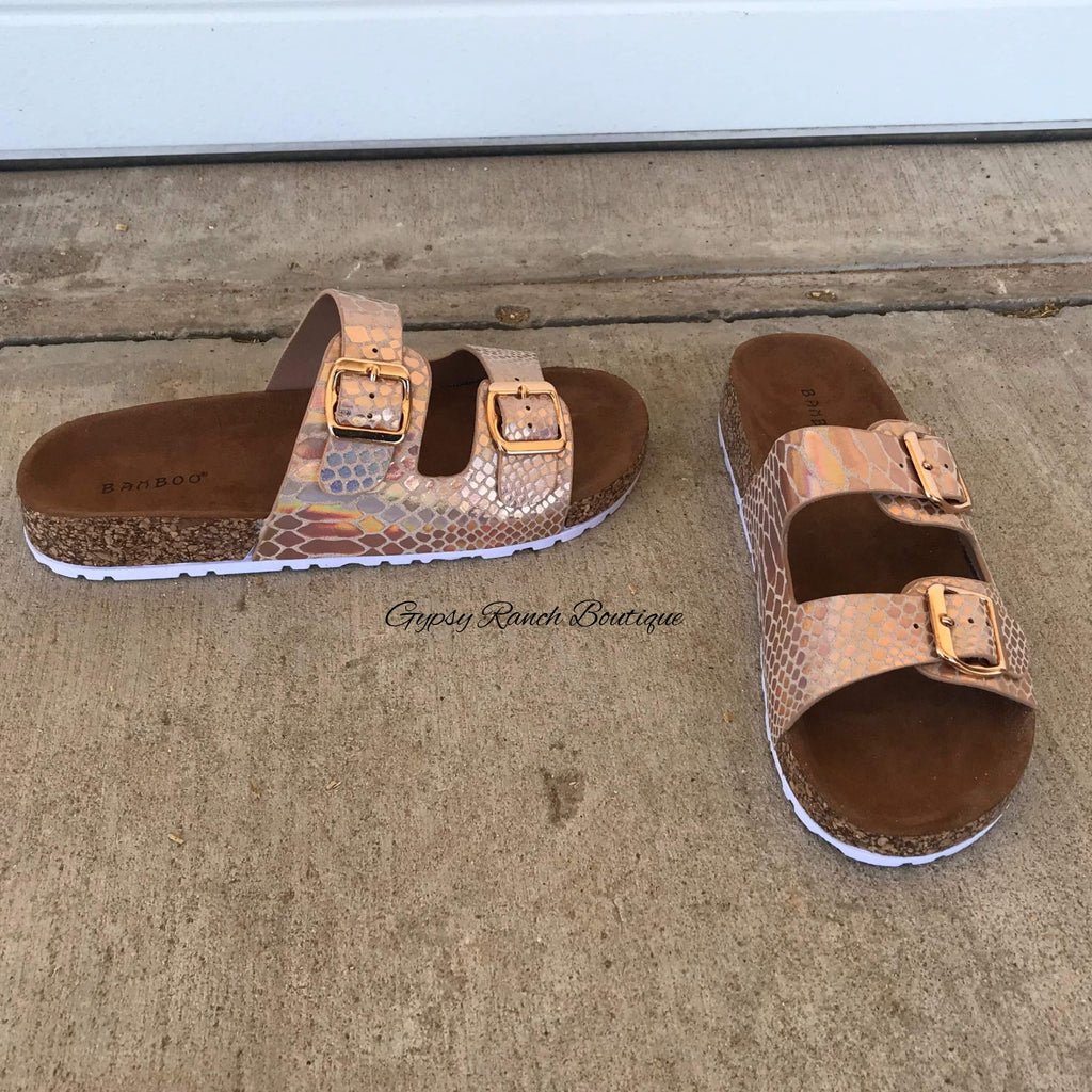 Dayton Rose Gold Sandals