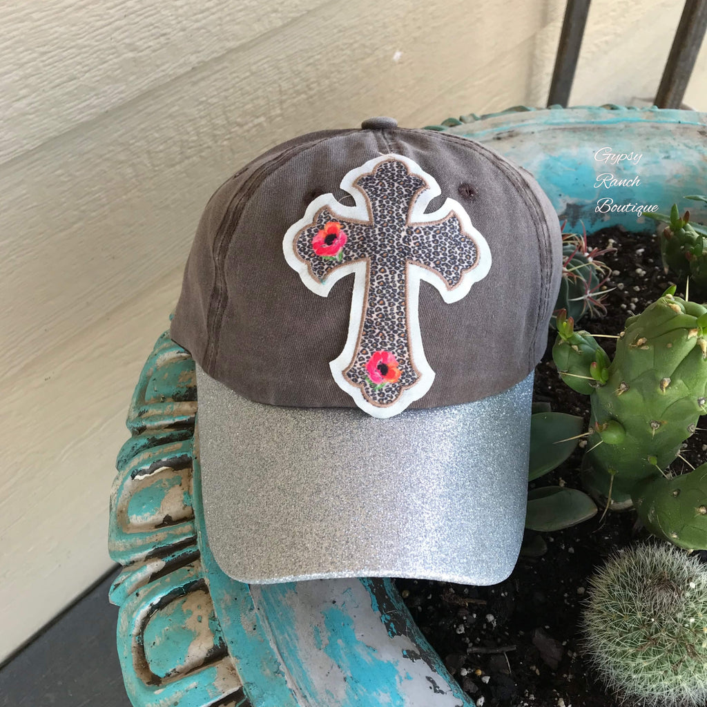 Slaton Leopard Cross with Glitter Cap