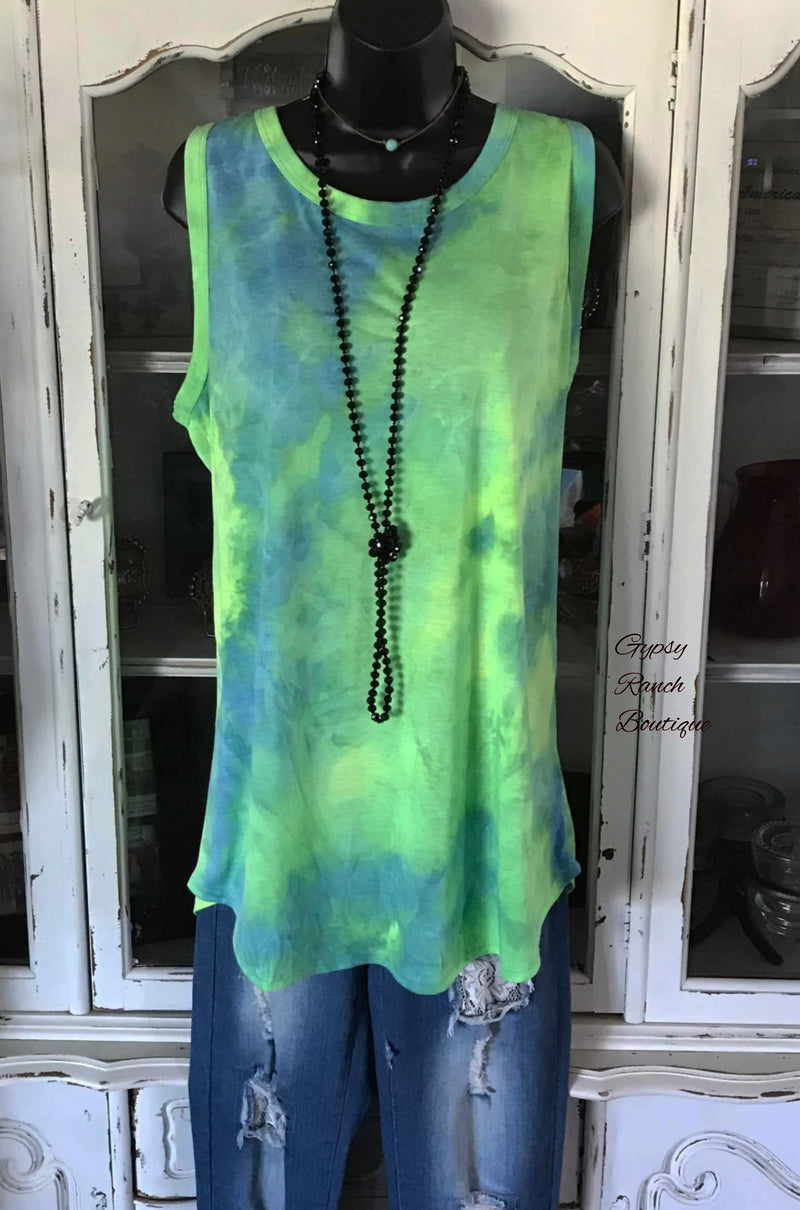 Hula Tye Dye Tank Top - Also in Plus Size